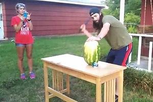 Watermelon Machete Fail