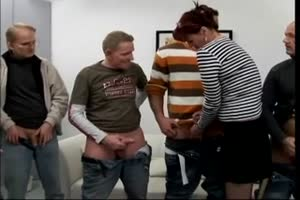 Mature redhead whore dick inspection