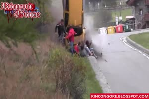 Bizarre rally accident