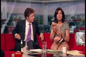 Newsreader demonstrates toys