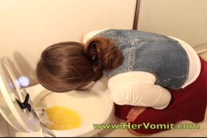Drunk Girl Toilet Vomit