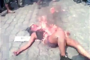 Girl Lynched And Set On Fire