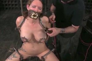 Electric nipple breast torture