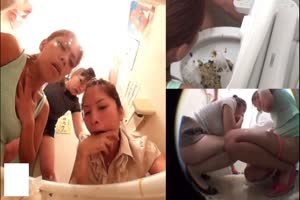 Drunk Girls Puking in the Toilet Part1