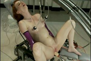 Skinny Slut Rough Machine Fucked
