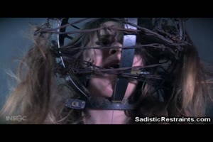 Small Teen Restrained with Barbed Wire!