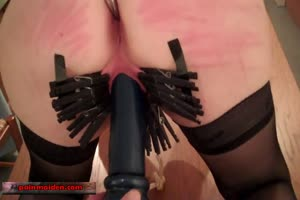 Colth Pin Punished Pussy Toyed
