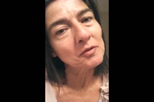 Pervy Grandmother Talks About Cum On Her Face