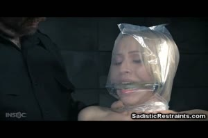 Helpless Babe In Plastic Bag Trouble