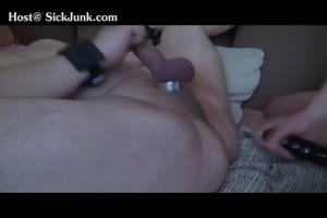 Dude Gets Slammed In The Ass By A Bitch With A Strap-On