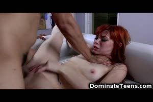 Submissive Teen Redhead Gets Used!