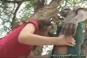 Asian Sucks Her 1st BBC in Africa!