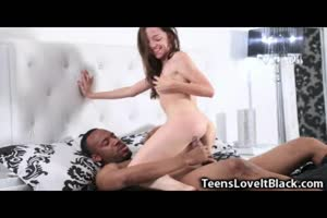 Skinny Small Teen Rides a Monster BBC!