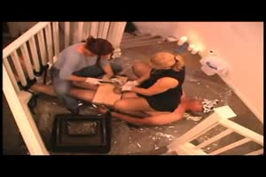 Nailing bitch's balls