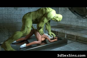 3D Nurse Ravaged by Frankenstein!