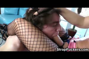 Strapon Mistress Trains Her Slave Boy!