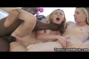 Two Skinny Teens Destroyed by Huge BBC!
